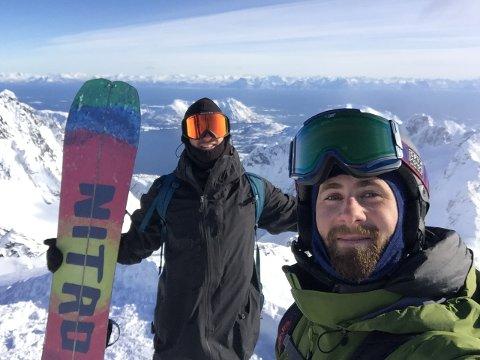 Bak ideen: Det var Erik Botner og Joacim Nyhaugen som kom med ideen om å starte konkurransen i Lofoten. Etter at de fikk med seg Snowboardforbundet på laget blir ideen nå en realitet førstkommende helg.