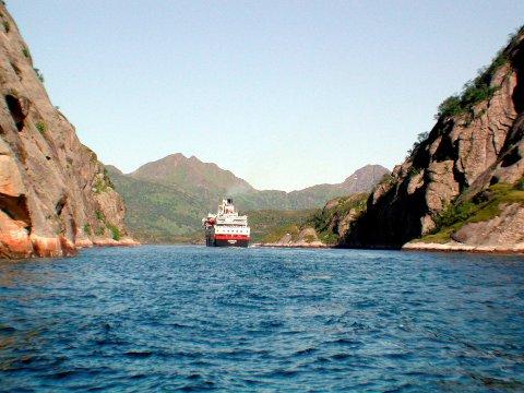 Trollfjorden: Kystverket iverksetter flere tiltak som følge av skredfarevurderingen i Trollfjorden. Foto: Arkiv