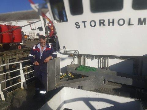 MEDHOLD: Skipper Ketil Pettersen hadde rett i at den russiske marineøvelsen ikke var varslet i henhold til rutinene. Foto: Privat