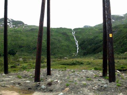 Vågan linje  ny 132 kilovoltlinje strømlinje Laupstad kraftlinje stolper Strømnett