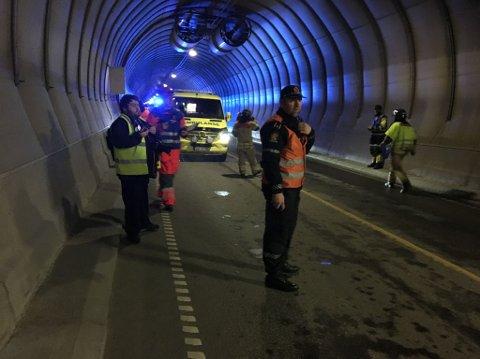 Totalt var 40 redningsmannskaper i aksjon under storøvelsen tirsdag.