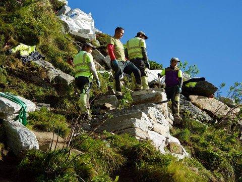 DYKTIGE: Sherpaene som har vært i jobb på Reinebringen er nå dratt hjem.