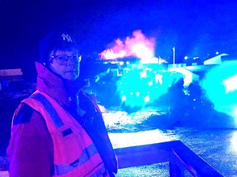 Brannsjef Ragnhild Sæbøe i Lofoten brann- og redningsvesen.