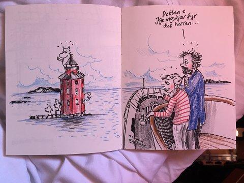 TEGNER: Ida Larmo tegner og illustrerer historiene Bremnes skriver.
