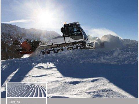TRÅKKEMASKIN: Det er denne typen maskin Leknes skiklubb har kjøpt