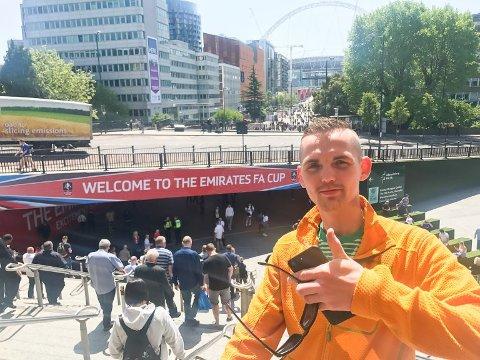 Tippemester: Det var en forventningsfull tippemester som troppet opp på Wembley i mai i fjor. Kim Rune Sivertsen vant konkurransen første gang han deltok.