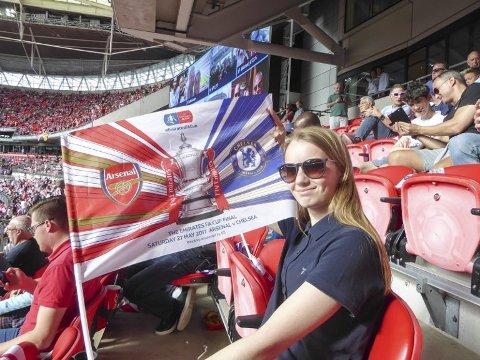 På Wembley: Guro Håkstad (17) på Wembley i 2017. Nå skal hun delta i Tippemesterskapet igjen.