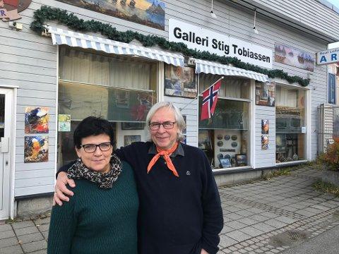 Eva og Stig Tobiassen kan feire 25-årsjubileum for galleriet sitt i år.