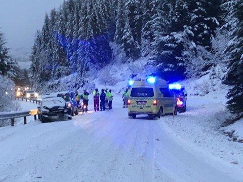 Ulykka skjedde på Storfjord-sida av Hagskaret på Vestvågøy.