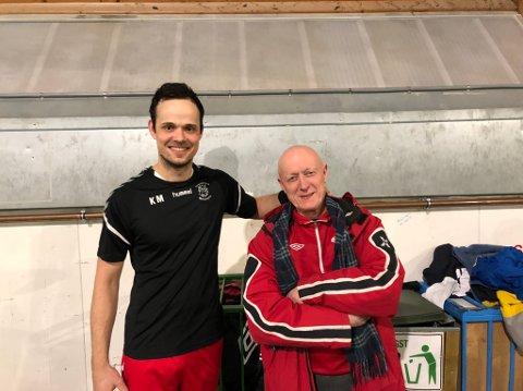 Knausen: I helga slo Knausen-spiller Kristian Marthinussen ut Knausen-manager John M. Gjelle i Tippemesterskapet.