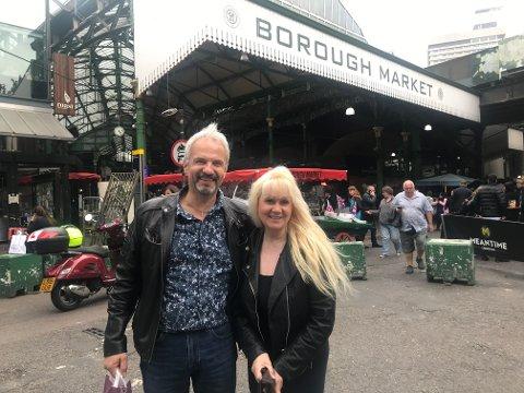 Matmarked: Arild og Willgunn storkoste seg på Borough Market - et av verdens største matmarked med mat fra alle verdenshjørner.