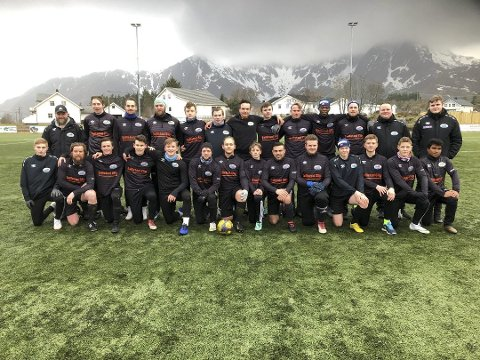 Uavgjort: Ballstad-troppen spilte uavgjort mot Melbo 2 mandag formiddag.