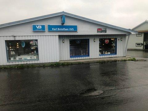 FYGLE: Karl Botolfsen VVS AS har butikk og lager på Fygle