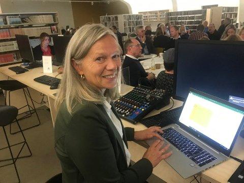 FØRSTEVALG:- Et samarbeid med Ap er vårt førstevalg, slår Anne Sand i Vestvågøy Sp fast.