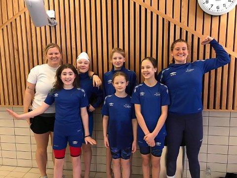 GODE PRESTASJONER: Svømmerne fra SIL hadde gode prestasjoner under Finnsnes Vintersvøm.
