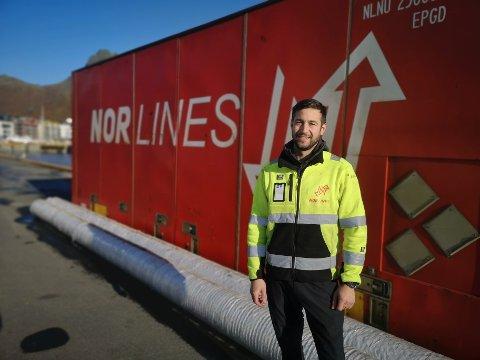 Tragedie: - Vi har fullstendig mistet konkurranseevnen i transportmarkedet, sier driftssjef ved Nor Lines i Svolvær, Vegard Gundersen.