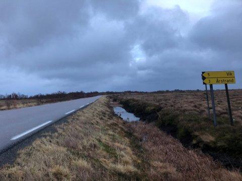 Langs Statsveien er det lange strekk som mangler brøytestikker.