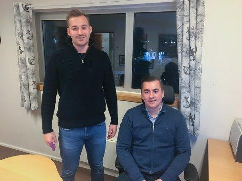 LEDERSKAP: Andreas Marhaug (tv) har 1. desember gått inn i stillingen som leder for salg og teknisk drift, mens broren Morten Marhaug (33) ble daglig leder for halvannet år siden.