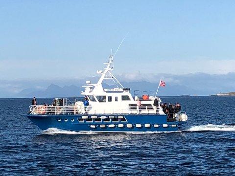 "FJORDRUTA: ""Nordic Star"" er på plass på Reine, og skal trafikkere Reinefjorden. Foto: Charter i Nord"