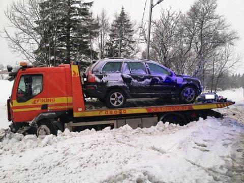 FRA DEN ENE TIL DEN ANDRE: Bergingsbilen var på vei fra en annen ulykke da den selv havnet i en kolligsjon.