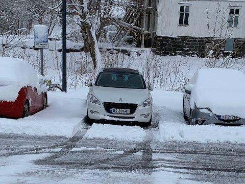 Denne bilen ble stjålet fra fergekaia på Moskenes.