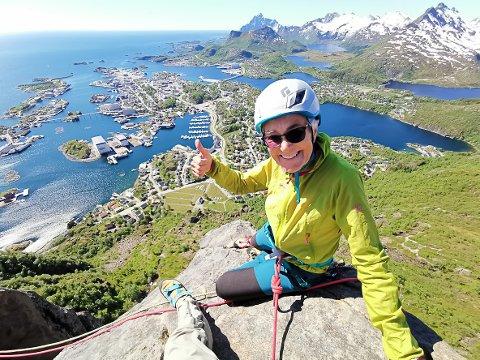 70 år: Inger Krane fra Narvik besteg Svolværgeita i en alder av 70 år.