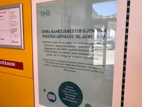 Tilbudet fra DNB hos Post i butikk fortsetter fram til 1. september i år, altså hele juli og august.