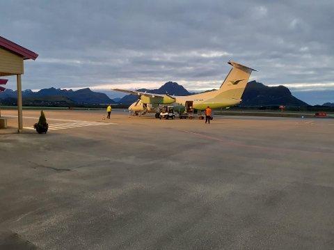 Leknes lufthavn, torsdag 20. august 2020. Lofotkommunene ønsker større flyplass, Naturvernforbundet mener planene for utbygging av storflyplasser i Nordland må stoppes.