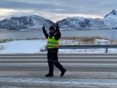 BESLAG: Den mannlige sjåføren fikk førerkortet beslaglagt.
