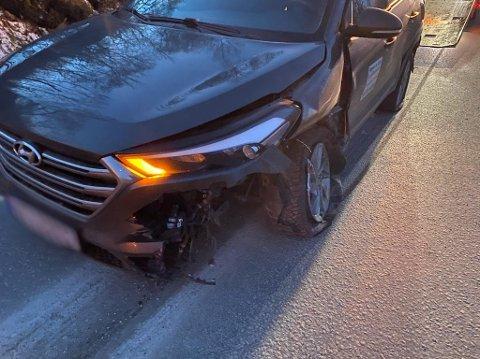 Kollidert: Politiet pågrep sjåføren mistenkt for ruspåvirket kjøring etter kollisjonen i Haugen lørdag