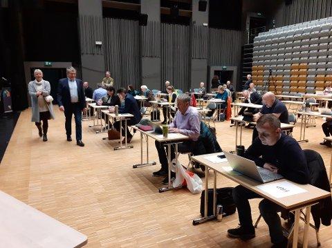 Fra kommunestyremøtet 1. desember 2020, som også ble holdt i Meieriet Kultursenter.