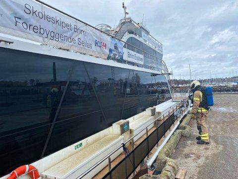 «Brim» skal etter planen nordover til Svolvær så snart skadene etter brannen er utbedret.