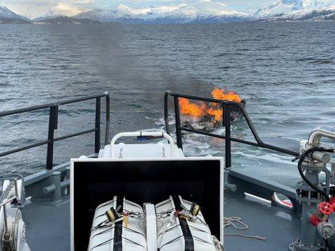SANK: Båten sank etter en time