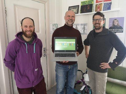 Småjobbsentral: Markus Wegge, Pål Christensen og Rhodri Hardy håper småjobbsentralen blir en suksess.