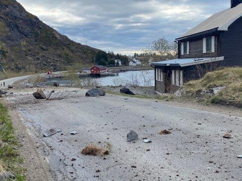 TRAFF BOLIGEN: Steinraset som gikk 17. mai traff Fidelin Ramon Melos bolig. Heldigvis var ingen personer i boligen da hendelsen inntraff.