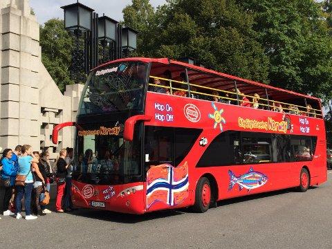 KOMMER TIL LOFOTEN: Stromma vil komme med dobbeltdekkbusser til Lofoten nå i sommer.