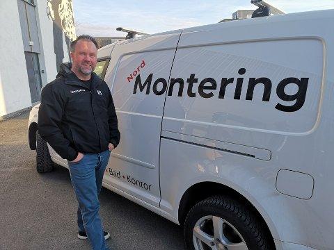 Fornøyd: Pål Jensen etablerte Nord Montering AS i fjor, og har hatt mer enn nok å gjøre i første driftsår.