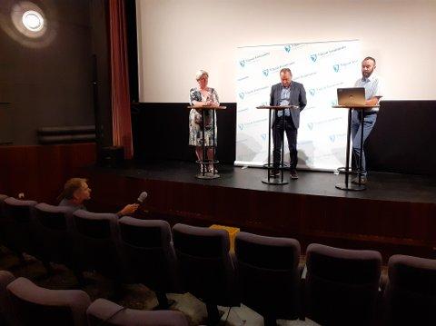 Optimist: Sist torsdag holdt Vågan kommune pressekonferanse om smittesituasjonen. Nå håper kommuneledelsen utbruddet går mot slutten.