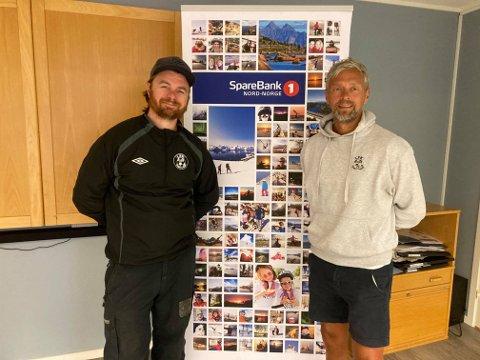 LØFT: Rune Solstad og Alsing Selnes gleder seg til LFK starter fotballakademi fra september.