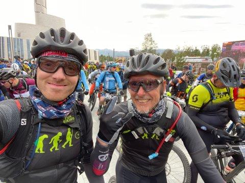 SUPERTEAM: Rune Sjøstrand og Karl Henrik Karlsen i Team 24h leverte knallresultat i Finnmark.