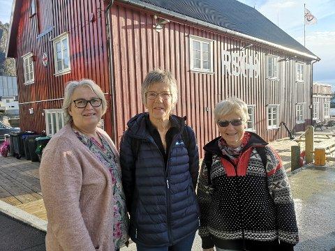 Sosialt lag: Anita Aksberg, Ruth Andorsen og Perly Stordal i Svolvær Redningsforening inviterer til sosialt lag på RS-basen i Svolvær for eldre og ensomme.