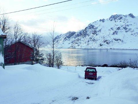 Bilde fra Skjelfjord på Flakstadøy.