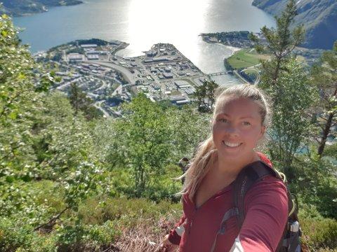Julie Andersen kommer til å bruke naturen i Lofoten.