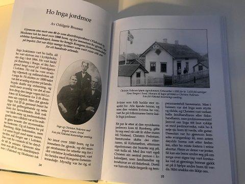 Vargfot 2020, Flakstad Historielags årbok, oppslått og lesverdig på stuebordet.