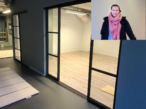 Miriam Berre i den nye butikken Berre & torg på Ramberg.
