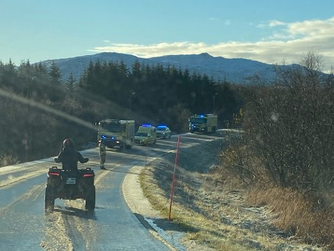 Fra trafikkulykken på Liland