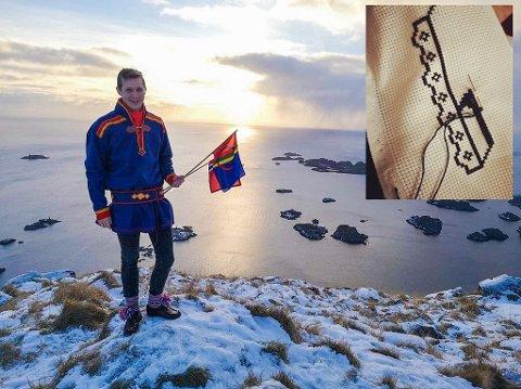 Jan-Robert Butter Simonsen viser stolt frem kofta i Lofoten.