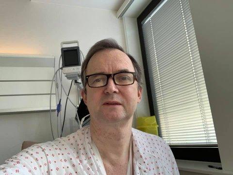 Hans Kristian Berg var innlagt på sykehuset på Gravdal i ei uke med et alvorlig tilfelle av covid 19.