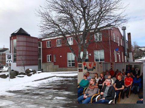 Supporterklubben «Liverbirds» er allerede på plass i Trafikkgården på Leknes.