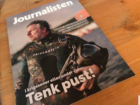 Aleksander Nordahl på forsida av bransjebladet Journalisten.